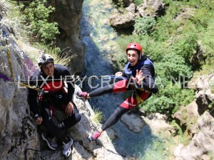 rock climbing in canyon of Cetina river - daily excursions
