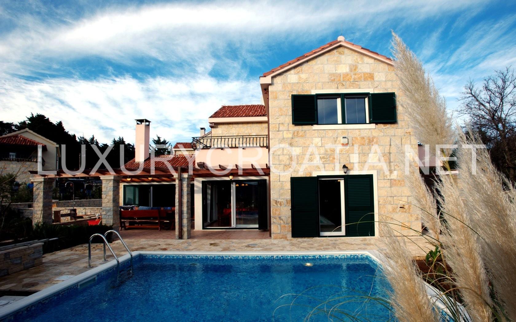Luxury Stone Villa With Pool For Rent Praznica Brac Island