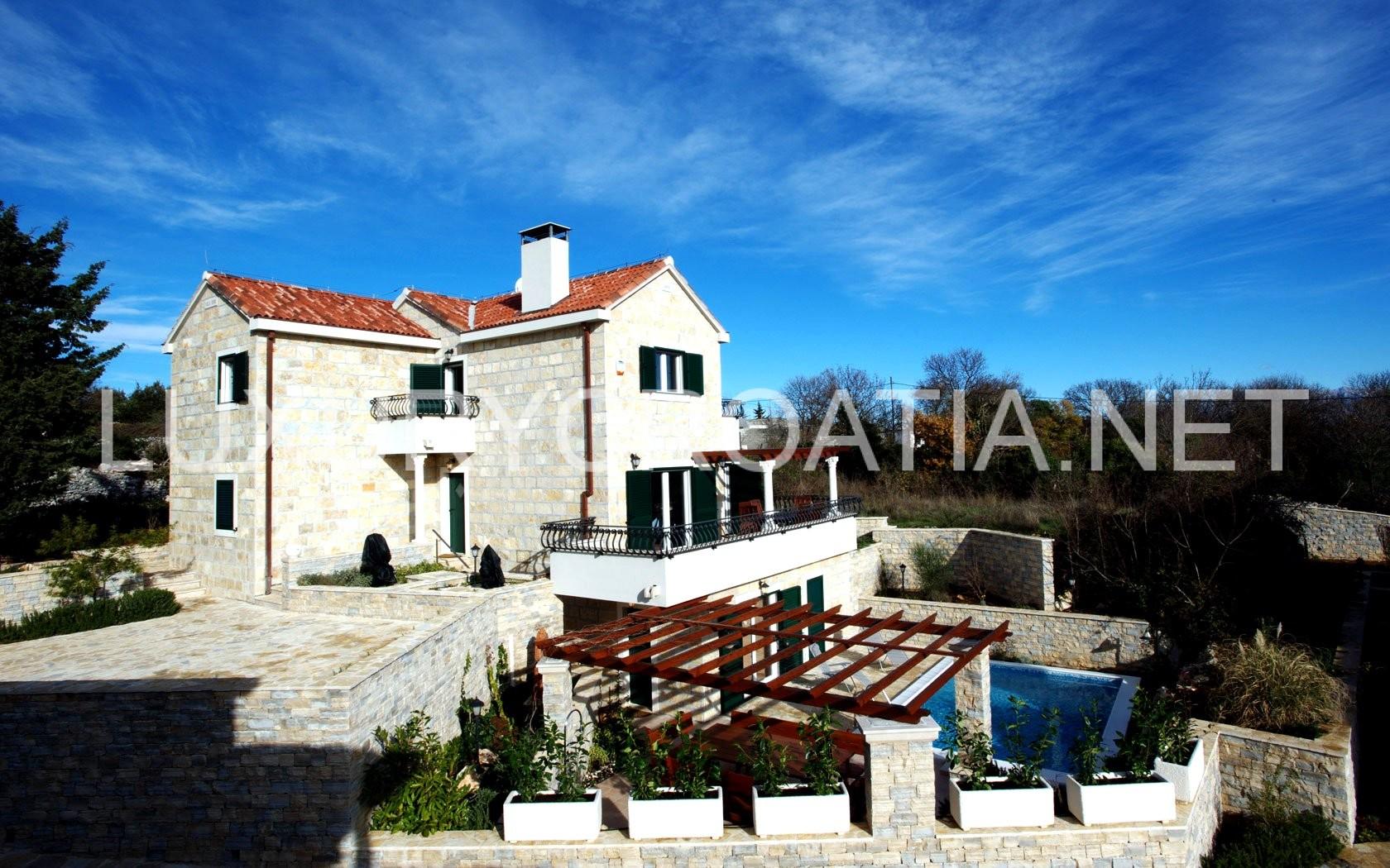 Stone Villa With Pool For Rent Praznica Brac Island