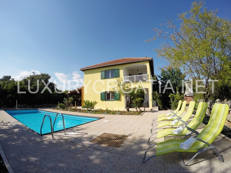 Villa with pool and large outdoor area for rent vinisce for Big outdoor pool