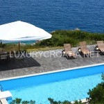 Luxury seafront villa with pool for rent, Kolocep island near Dubrovnik