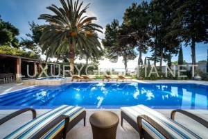 Luxury waterfront pool villa for rent in elite part of Split