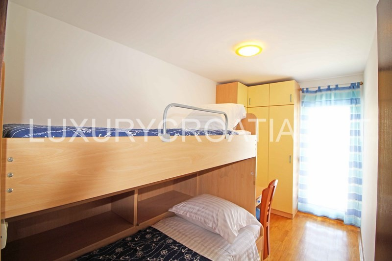 bedroom sea view family apartment znjan in split luxury croatia