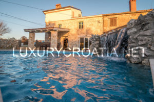Traditional stone villa with a pool for rent, Krk Island