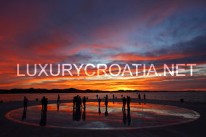 Zadar spectacular sunset