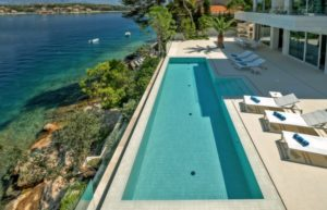 modern seafront villa for rent Brac island