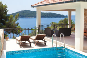 second row to the sea pool villa for rent, Korcula (7)