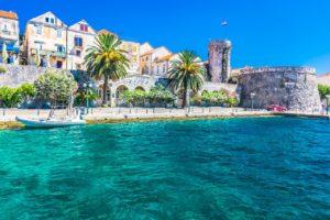 Luxury seaside villa with pool, Korcula