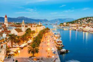 Beachfront land for sale Trogir area Croatia