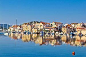 Waterfront land for sale with boat mooring Sibenik area Croatia